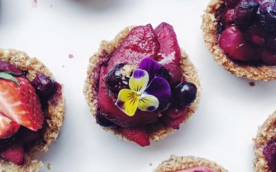 Vegan Almond Apple Berry Tartlets